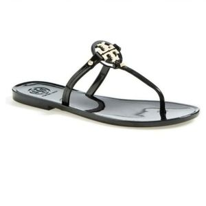 Tory Burch Mini Miller Jelly Thong Black Sandal